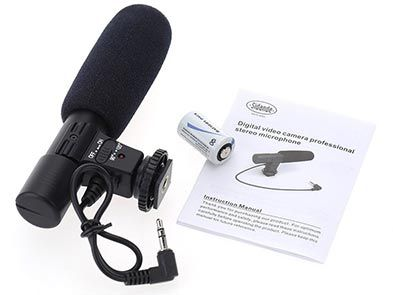 Sidande Mic 01   Richtrohrmikrofon für DSLR für 11,60€