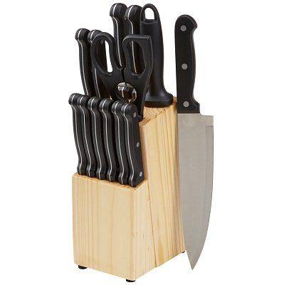 Abgelaufen! AmazonBasics Messerblock mit 14 Teilen für 19,16€   Prime