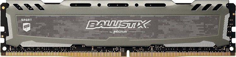 Crucial Ballistix Sport DIMM 8GB DDR4 2400 (BLS8G4D240FSB)   Arbeitsspeicher für 57,98€ (statt 80€)