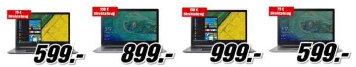 Media Markt mit bis zu 150€ Direktabzug auf ausgewählte Acer Swift 3 Notebooks   Top Preise!