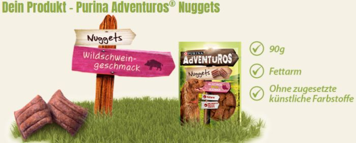 Purina Adventuros Testpackung gratis anfordern
