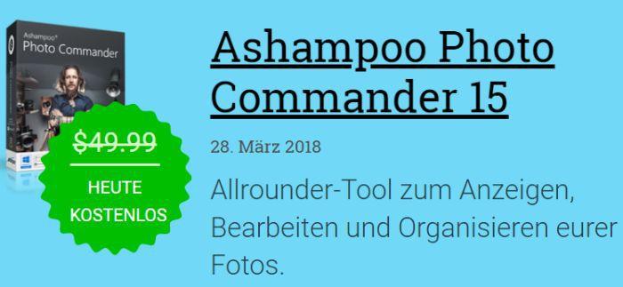 Ashampoo Photo Commander 15 (Vollversion, Windows) gratis
