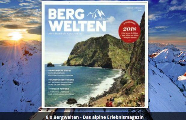 Jahresabo Bergwelten (Wert über 40€) gratis   Kündigung notwendig