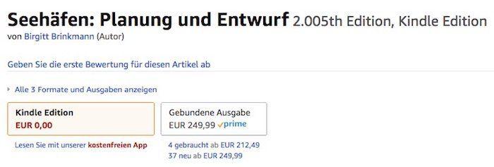 Preisfehler! Seehäfen: Planung und Entwurf Kindle Edition gratis (gebundene Ausgabe sonst 239€)