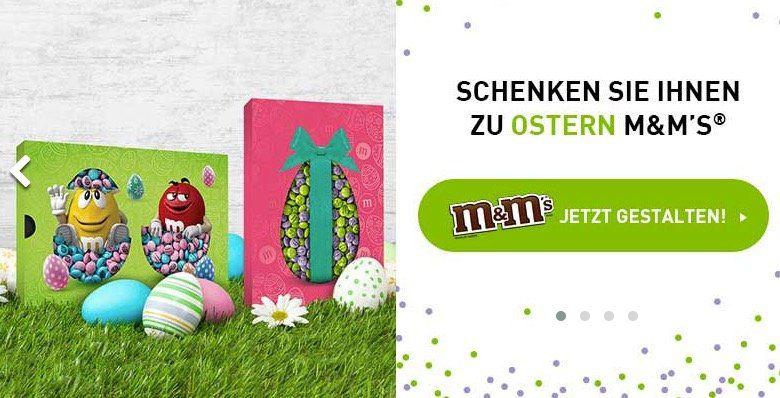 myM&M Schokolinsen mit neuen Ostermotiven + 7€ Gutschein