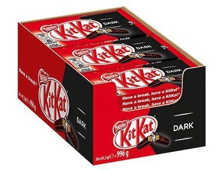 24er Pack Nestle KitKat Dark Schoko Riegel für 10,98€