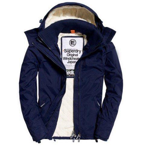 Superdry Sherpa Windcheater Jacke mit Kapuze für 69,95€ (statt 110€)