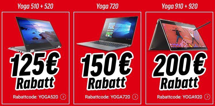 Bis zu 200€ Sofort Rabatt auf Lenovo IdeaPad & Yoga Notebooks