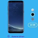 Samsung Galaxy S8 für 1€ + o2 Allnet-Flat mit 3GB LTE für 29,99€ mtl.