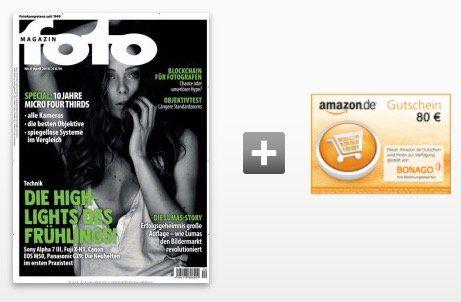 12 Ausgaben vom foto Magazin für 85,20€ + 80€ Gutschein