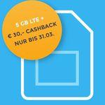 o2 Allnet XL mit 5GB LTE ohne Datenautomatik für 14,99€ mtl. + 30€ Cashback