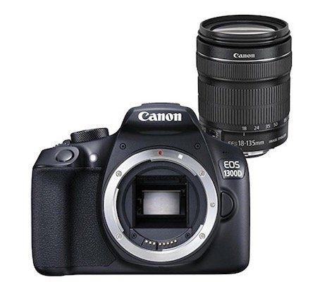 Canon EOS 1300D Spiegelreflexkamera mit 18 135 mm Objektiv für 487,63€ (statt 590€)