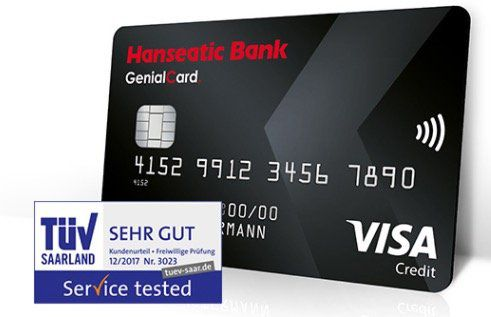 GenialCard Visa Karte mit 30€ Urlaubsgeld   dauerhaft gebührenfrei + Sofortentscheidung der Bank