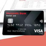 ApplePay-fähige GenialCard Visa mit 20€ Startguthaben – dauerhaft gebührenfrei