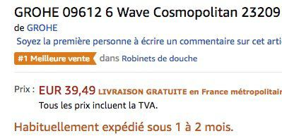 Vorbei! Grohe Wave Cosmopolitan Einhand Wannenbatterie für 46,27€ (statt 110€)