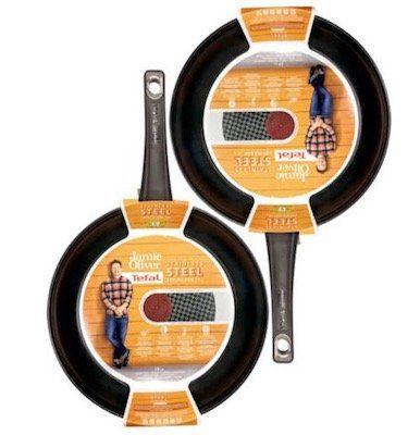 2er Set Tefal Jamie Oliver Pfanne 28cm aus Edelstahl für 50€ (statt 60€)