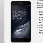 Asus ZenFone AR 128GB für 1€ + Vodafone Allnet-Flat mit 4GB für 24,99€mtl.