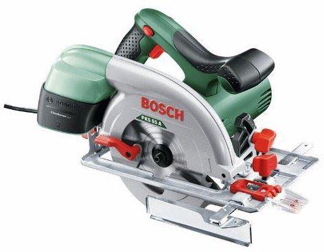 Bosch Kreissäge PKS 55 A mit Holz Sägeblatt für 75€ (statt 83€)