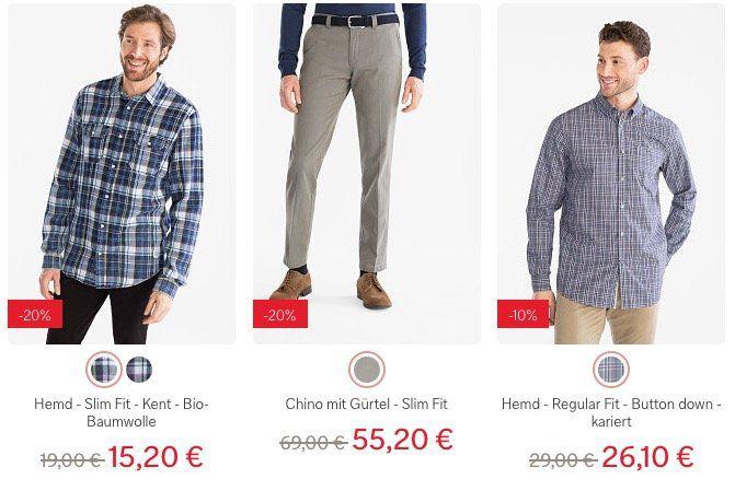 20% Rabatt auf jede Bestellung bei C&A ab 49€   auch im Sale