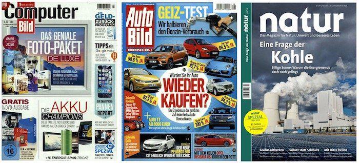 Abomix Oster Deals mit tollen Zeitschriften Angeboten   z.B. Computer Bild mit DVD für 136,50€ + 125€ Verrechnungsscheck + 6€ Sofort Rabatt