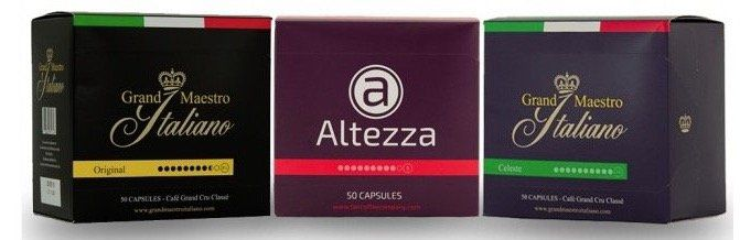 50 Altezza + 100 Grand Maestro Kaffeekapseln (geeignet für Nespresso) für 31,94€