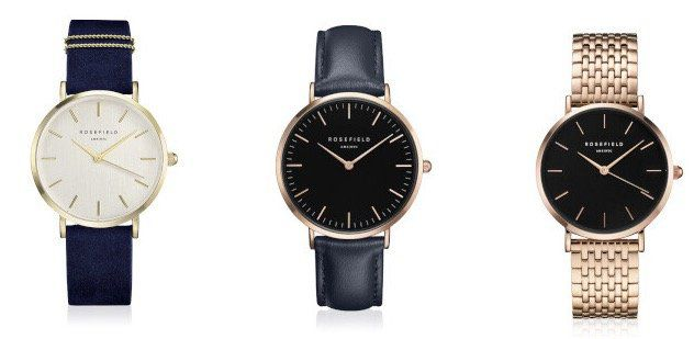 Rosefield Damen Uhren und Armschmuck bei vente privee   z.B. Rosefield The Bowery Damenuhr für 45,90€ (statt 83€)