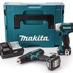Makita CLX202AJ Akku-Schlagbohrschrauber & -Schlagschrauber + 2 x 2Ah + Ladegerät + Makpac für 155€ (statt 182€)