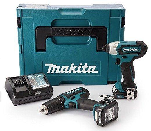 Makita CLX202AJ Akku Schlagbohrschrauber &  Schlagschrauber + 2 x 2Ah + Ladegerät + Makpac für 155€ (statt 182€)
