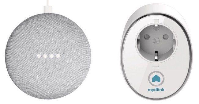 Google Home Mini Lautsprecher + D LINK DSP W115 Smarthome Steckdose für 39€ (statt 59€)