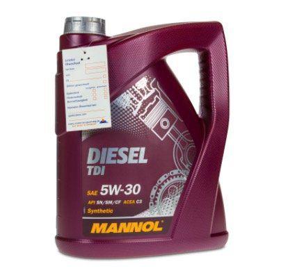 5 Liter MANNOL 5W 30 Diesel TDI Motoröl für VW, Audi, Seat, Skoda für 17,99€ (statt 25€)