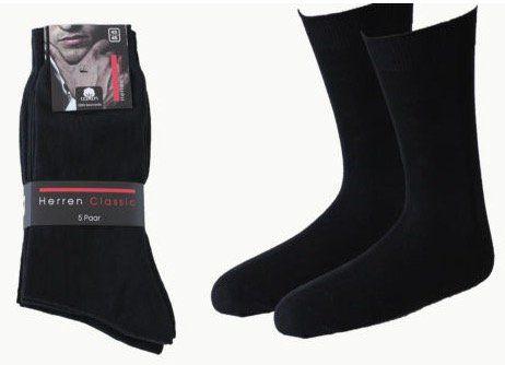 10 Paar Herren Business Socken aus 100% Baumwolle für 11,99€