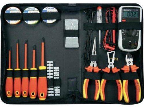 Toolcraft VDE Werkzeugset für den Elektriker 50 tlg. für 58,19€ (statt 70€)