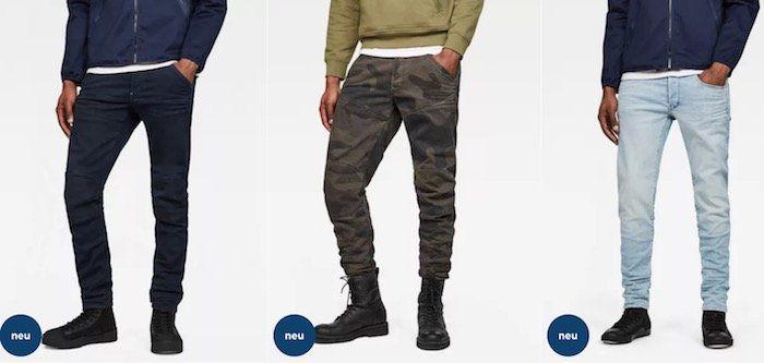 G Star mit 20% Rabatt auf nicht reduzierte Jeans