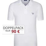 Gant Pique-Poloshirts im Doppelpack für 85€ (statt 110€)
