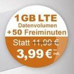 o2 Smart Surf Tarif mit 50 Min + 50 SMS + 1GB für 3,99€ mtl.