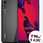 Huawei P20 Pro für 59€ + o2 Allnet-Flat mit 20GB LTE für 34,99€ mtl.