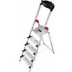 Hailo Aluminium Profistep XXL – Sicherheitsleiter mit 5 Stufen für 45,89€ (statt 68€)