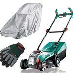 Bosch Rotak 32 Li Akku-Rasenmäher (4Ah) + Handschuhe + Regenschutz für 279€ (statt 299€)
