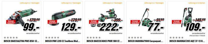 Media Markt Bosch Tiefpreisspätschicht: günstige Gartengeräte, Werkzeuggeräte und Haushaltsgeräte