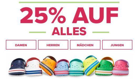 Crocs mit 25% Rabatt auf (fast) bis Mitternacht   günstige Schuhe für Damen, Herren und Kinder
