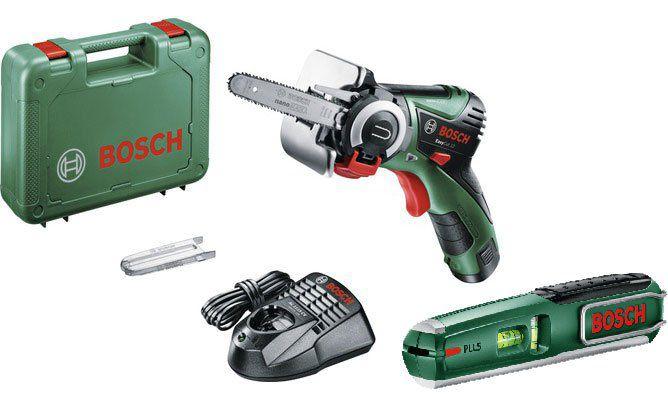 Vorbei! Bosch EasyCut 12 Micro Kettensäge + Bosch PLL5 Laserwasserwaage für 109€ (statt 147€)