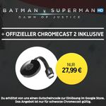 "Google Chromecast 2 + HD Stream:  ""Batman v Superman: Dawn of Justice"" für 27,99€"