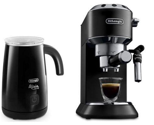 DELONGHI EC 685.BK Dedica Style   Espresso Siebträgermaschine +  Milchaufschäumer für 159€ (statt 210€)