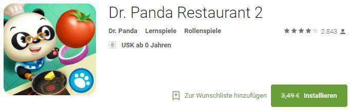 Dr. Panda Restaurant 2 (Android/iOS) gratis statt 3,49€