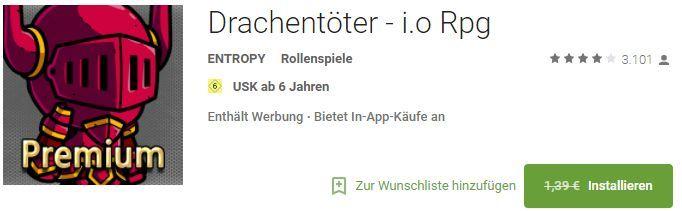 Drachentöter   i.o Rpg (Android) gratis statt 1,39€