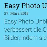 Easy Photo Unblur 2.0 (Vollversion, Windows) gratis