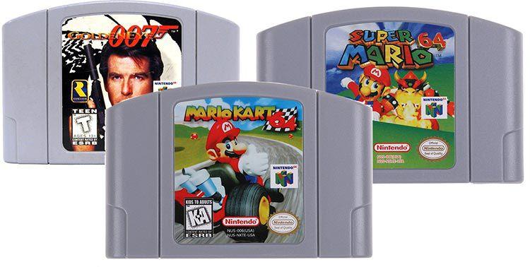 Mario Kart 64, Super Mario 64 & GoldenEye 007 für je 16,59€