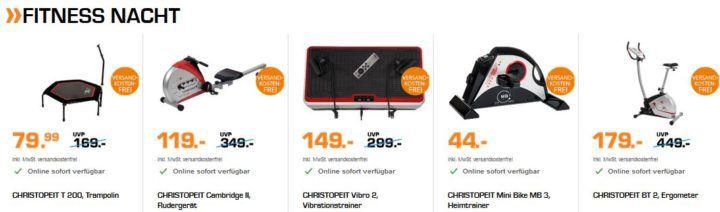 Saturn Fitness Nacht: günstige Heimtrainer und Fitnesstracker   z.B. CHRISTOPEIT CXM 6 Crosstrainer für 379€