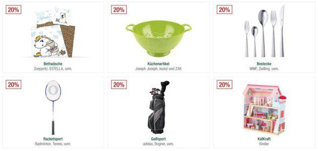 Galeria Kaufhof Sonntagsangebote   z.B. 20% Rabatt auf Golfsport, Uhren u. Schmuck, Kindermoden uvam.