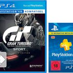 Gran Turismo Sport Day 1 Edition VR (PS4) + PlayStation Plus Card 12 Monate für 54€ (statt 72€)